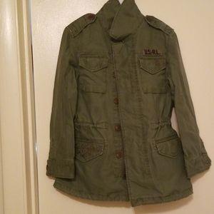 🚨Ralph Lauren Cotton Twill Military Jacket